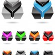 3d Abstract Icon Series - Set 9 — Stock Vector