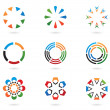 Colourful abstract design elements — Stock Vector