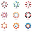 Colourful abstract icons — Stock Vector #3888045