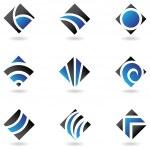 Blue diamond icons — Stock Vector #3888620