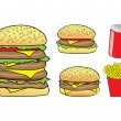 Fast food cartoon — Stock Vector