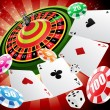 Stock Vector: Casino and roulette