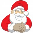 Royalty-Free Stock Vector Image: Grinning Santa