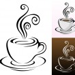 Coffee cups — Stock Vector #3889292