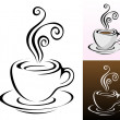 Stock Vector: Coffee cups