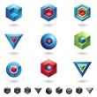 Spheres, Cubes, triangles - Stock Vector