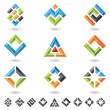 Squares, rectangles, triangles - Stock Vector