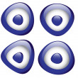 Blue Evil Eye - Stock Vector
