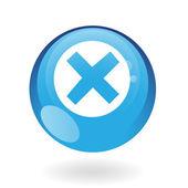 Blue error — Stock Vector