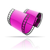 Purple film reel — Stock Vector