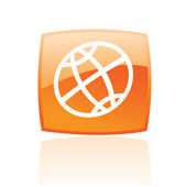 Orange globe — Stock Vector