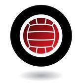 Volleyball logo — Stock Vector
