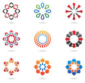 Colourful abstract icons — Stock Vector