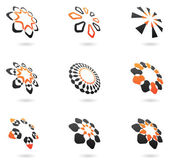 Distorted abstract icons — Stock Vector