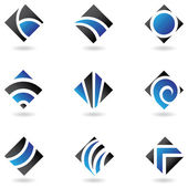 Blue diamond icons — Stock Vector