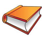 Turuncu kitap çizgi film — Stok Vektör