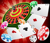 Casino and roulette — Stock Vector