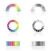 Colour profiles — Stock Vector