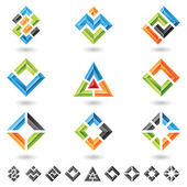 Quadrados, retângulos, triângulos — Vetorial Stock