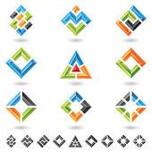 Vierkanten, rechthoeken, driehoeken — Stockvector