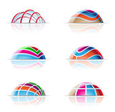 Dome icons — Stock Vector