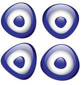 Blue Evil Eye — Stock Vector