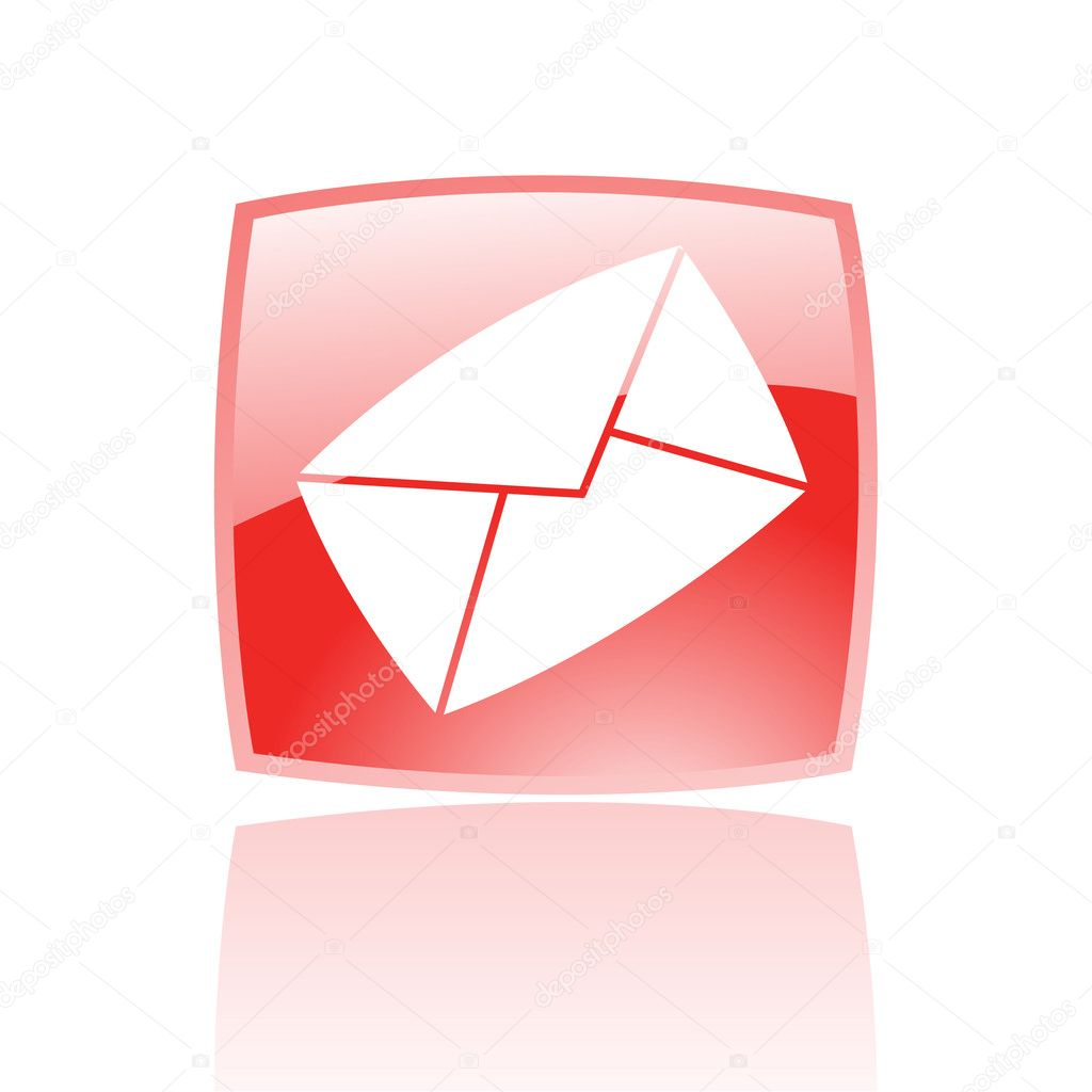 Red envelope isolated on white  Stock Vector #3882282