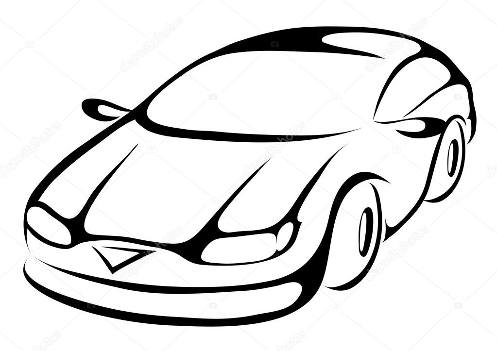 Stylized cartoon icon of a sports car — Stock Vector #3889034