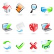 Glossy web icons — Stock Vector #3890474