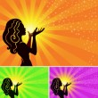 Royalty-Free Stock Imagen vectorial: Magical fairy girl