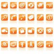 Stock vektor: Orange Web Icons