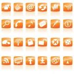 icone web arancione — Vettoriale Stock