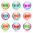 Orbit icons - Stock Vector