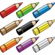 Cartoon pencils — Stock Vector