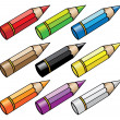 Cartoon pencils — Stock Vector #3892382