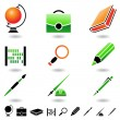 Royalty-Free Stock Vector Image: School objects