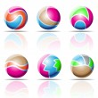 Spheres, beach balls — Stock Vector