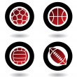 Sports balls icons — Stock Vector #3892943