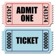 Admit one ticket — Stockvectorbeeld