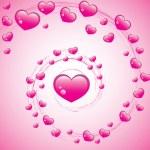 Valentines Swirl — Stock Vector