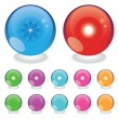 Royalty-Free Stock Vector Image: Glass season balls