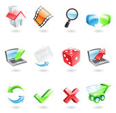 Glossy web icons — Stock Vector