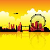 London at dusk — Stock Vector
