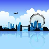 Londen op een heldere dag — Stockvector