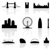 London famous landmarks — Vector de stock