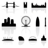London famous landmarks — Stock Vector