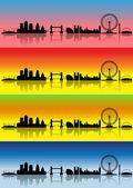 London in four seasons — Stock Vector