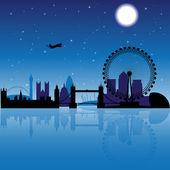 London at night — Stock Vector