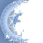 Blaue alte mosaik — Stockvektor