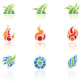 Nature elements icons — Stock Vector